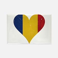 Romania heart Rectangle Magnet