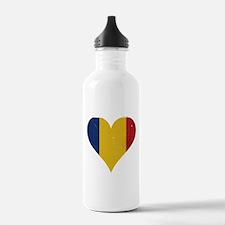 Romania heart Water Bottle