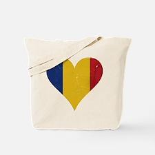 Romania heart Tote Bag