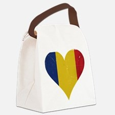 Romania heart Canvas Lunch Bag