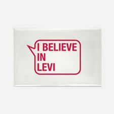 I Believe In Levi Rectangle Magnet