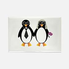 Newlywed Penguins Rectangle Magnet