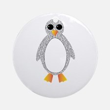 Black Beauty Penguin Ornament (Round)