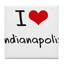 I Heart INDIANAPOLIS Tile Coaster