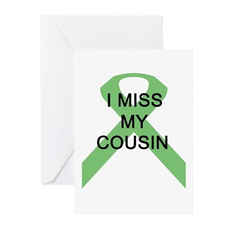 I MISS MY COUSIN Greeting Cards (Pk of 10)