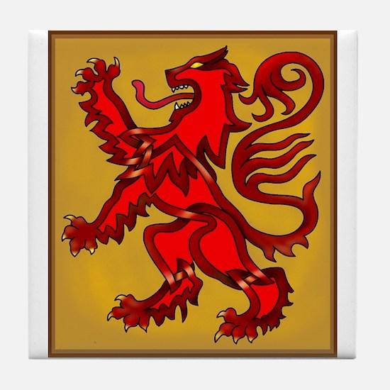 Scots Lion Tile Coaster