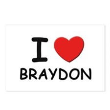 I love Braydon Postcards (Package of 8)