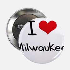 "I Heart MILWAUKEE 2.25"" Button"