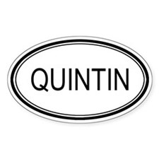 Quintin Oval Design Oval Decal