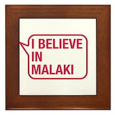 I Believe In Malaki Framed Tile