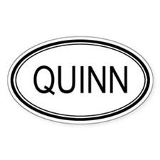 Quinn Oval Design Oval Decal