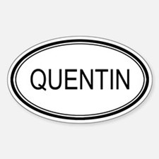 Quentin Oval Design Oval Decal