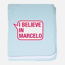 I Believe In Marcelo baby blanket