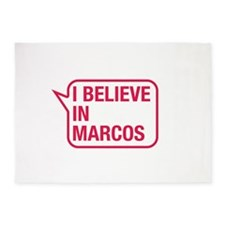 I Believe In Marcos 5'x7'Area Rug