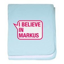 I Believe In Markus baby blanket