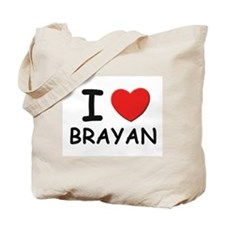 I love Brayan Tote Bag