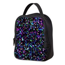 Neoprene Lunch Bag Mosaic Glitter 1