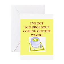 egg drop soup Greeting Card