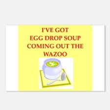 egg drop soup Postcards (Package of 8)