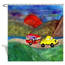 Vintage Camper and Truck Shower Curtain