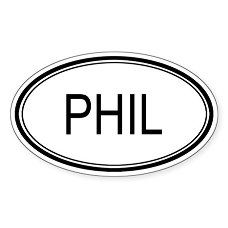 Phil Oval Design Oval Sticker