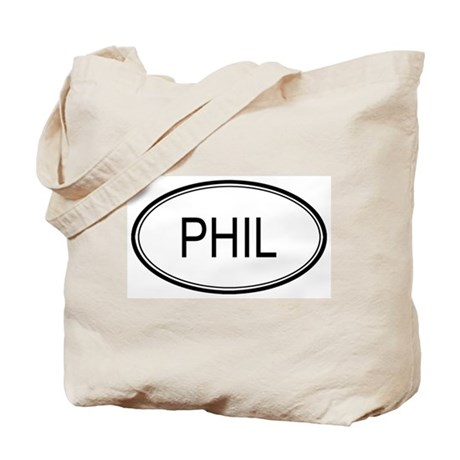 Phil Oval Design Tote Bag