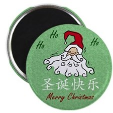Merry Christmas (Chinese): Green Magnet