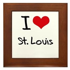 I Heart ST. LOUIS Framed Tile