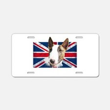 Bull Terrier UK grunge flag Aluminum License Plate