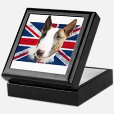 Bull Terrier UK grunge flag Keepsake Box