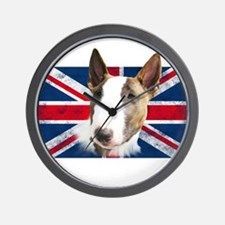 Bull Terrier UK grunge flag Wall Clock