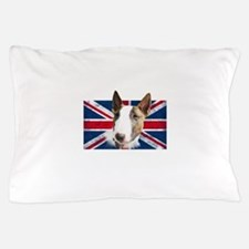 Bull Terrier UK grunge flag Pillow Case