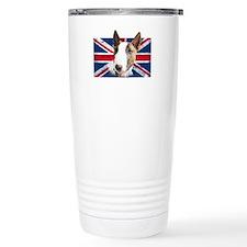 Bull Terrier UK grunge flag Travel Mug