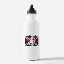 Bull Terrier UK grunge flag Water Bottle