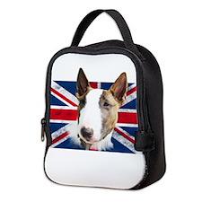 Bull Terrier UK grunge flag Neoprene Lunch Bag