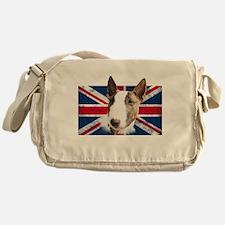 Bull Terrier UK grunge flag Messenger Bag
