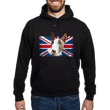 Bull Terrier UK grunge flag Hoodie