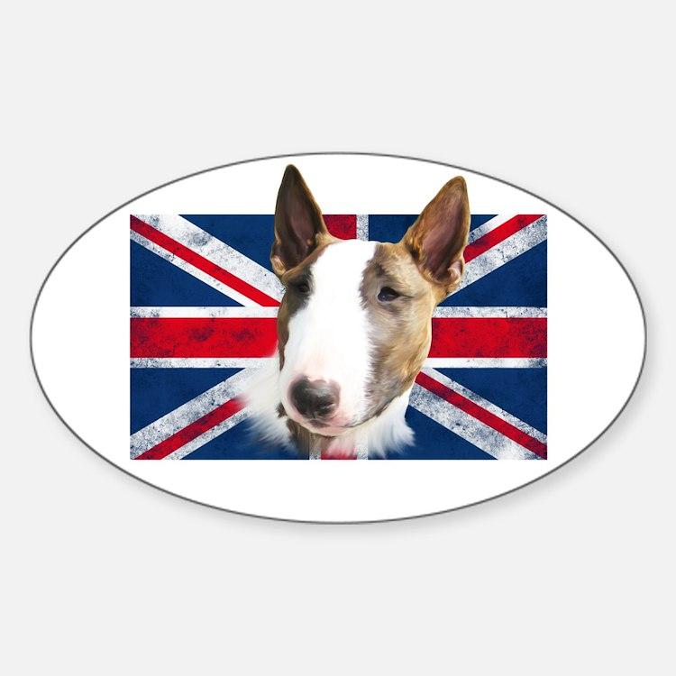 Bull Terrier UK grunge flag Decal