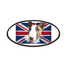 Bull Terrier UK grunge flag Patches