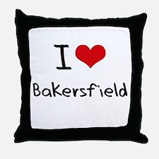 I Heart BAKERSFIELD Throw Pillow