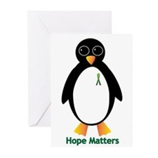 Cerebral Palsy Awareness Penguin Greeting Cards (P