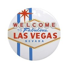 Las Vegas Sign Ornament (Round)
