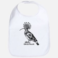 European Hoopoe Bird Wood Cut 1 Bib