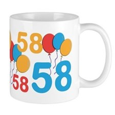 58 Years Old - 58th Birthday Small Mugs