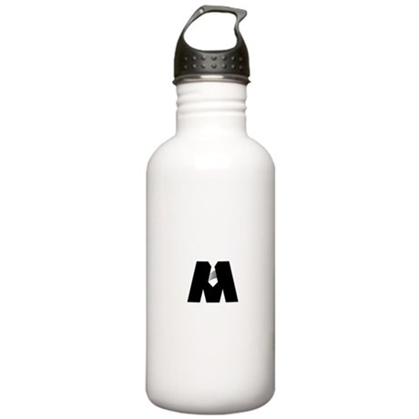 "The Black ""M"" Water Bottle"