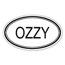 Ozzy Oval Design Oval Stickers