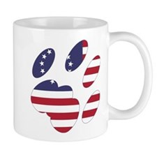 Betsy Ross Flag Cat Paw Mug