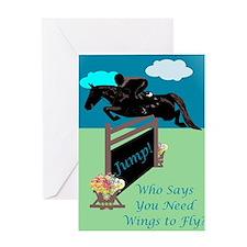 Fun Grand Prix Horse Jumper Greeting Card