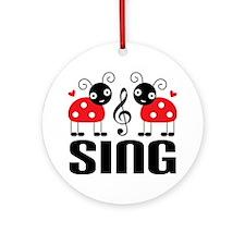 Lady Bug Music Choir Ornament