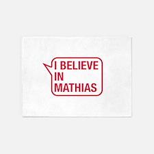 I Believe In Mathias 5'x7'Area Rug